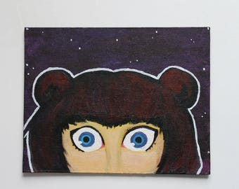 "Acrylic painting - ""The Stargazer"""