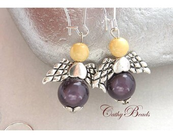 """Fine """"silver fairy"""" earrings"""