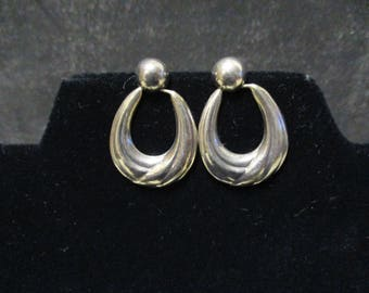 Vintage 925 Sterling Silver Hoop Stud Dangle Drop Earrings Jewelry