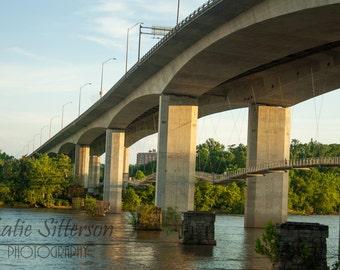 Belle Isle Footbridge Richmond Virginia Picture, James River Bridge Photo, Photo Art, Framed Photography Option