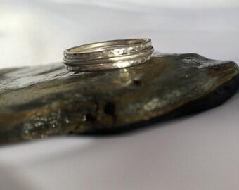 Dainty Ring Set, Stacking Rings, Thin Ring, Skinny Rings, Stack Rings, Plain Rings, Hammered Ring, Sterling Silver Rings