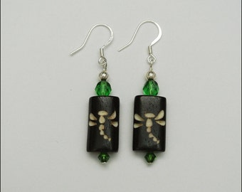 Green Firefly earrings
