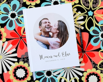 Photo Wedding Guest Book Guestbooks Personalized Guest Books Photo Booth Book Guestbook  Modern Custom Wedding Keepsakes Sign In Books
