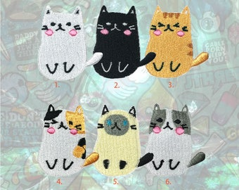 Cute Cat patch Cartoon Animal Patch Iron on Patch Sew On Patches