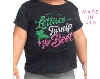 SALE lettuce turnip the beet ® trademark brand OFFICIAL site - grey track t shirt with logo - farmers market, vegan, vegetarian, garden tee