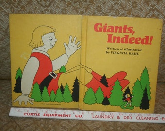 """Vintage Hard to Find 1974 """"Giants, Indeed!"""" by Virginia Kahl!  Hardcover Weekly Reader Children's Book Club!"""