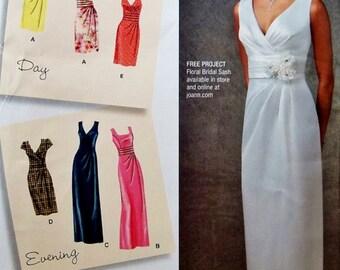 Sheath Dress Pattern, Evening Dress Pattern, Straight Dress Pattern, Sz 6 to 14, Simplicity Sewing Pattern 1420