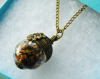 Acorn Vial Necklace