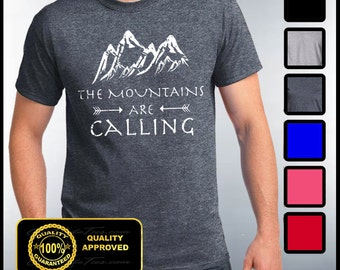Mountains Are Calling Shirt, The Mountains Are Calling T-shirt, Hiking, Trailing, Mountain Climbing Tees