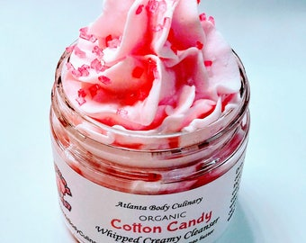Cotton candy fluffy whipped soap organic whipped soap vegan whipped soap