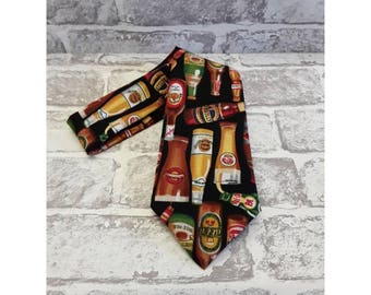 Men's Beer Bottles, Cotton Neck Tie.