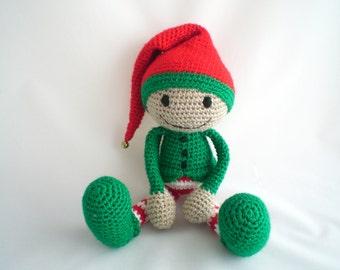 Crochet Elf / Christmas Elf / Amigurumi Elf / Plush Elf Toy / Crochet Santa's Helper / Christmas Elf / Christmas Elf Plush Toy.