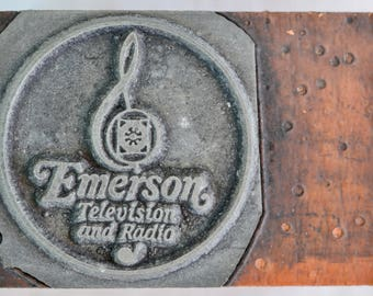 Emerson Radio Advertiement Print Block