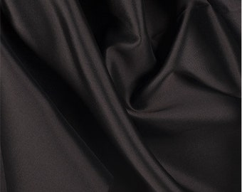 Dk Brown/Black Silk/Wool Gab, Fabric By The Yard