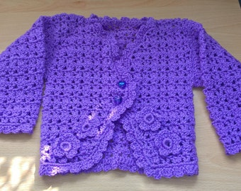 Girl's Crocheted cardigan set