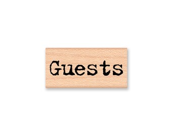 Welcome and Guests Rubber Stamps~Wedding~Party~Rustic Type Font~Favors~Thank You~Supply~Table Seating~Tags Cards Book (43-23 G)(43-24 W)