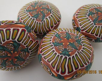 Lot of four//Clay Knobs//Cabinet Pulls//Lot of Four//Custom Knobs//Polymer Clay Knobs//Decorative Cabinet Knobs//Drawer Knobs//