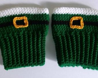 Leprechaun Boot Cuffs - St. Patrick's Day Boot Cuffs - Leprechaun Boot Toppers - St. Patrick's Day Boot Toppers -Green Boot Cuffs