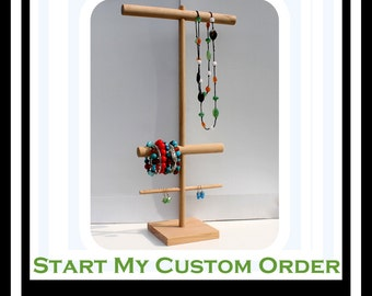 Tall Necklace Organizer, Necklace Bracelet & Earring Storage, Necklace Holder, Necklace Craft Show Display, Jewellery Tree, Necklace Rack