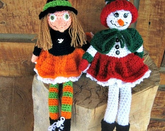 Crochet Pattern-Tabatha Witch and Frostine