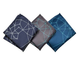 Blockchain Pocket Square Decentralized Distributed Network Geometric Hanky Crypto Cryptocurrency Ethereum Bitcoin Virtual Currency finance
