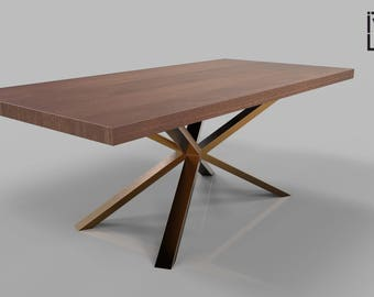 Spider Base, Metal Dining Table Legs For Sale, Solid Rose Gold Metal Table  Legs