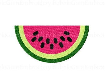 Watermelon Embroidery Design Instant Download