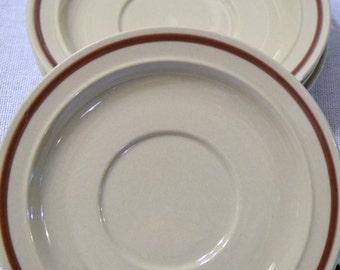 Vintage Newcor Good Earth Saucer set of 4 Stoneware 413 Japan PanchosPorch