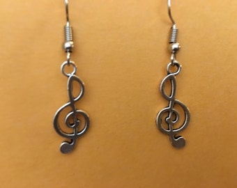 Music Cleft Note earrings