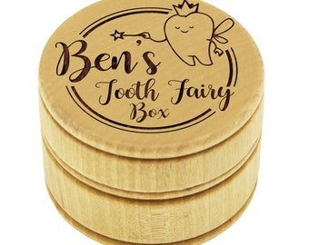 Tooth Fairy, Toothfairy Box, Personalized Tooth Fairy Box, Baby Tooth Box, Lost Tooth Holder, Wooden Tooth Box, Tooth Box Keepsake