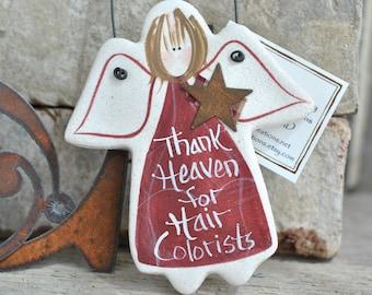 Hair Colorist Ornament Gift Personalized Salt Dough Ornaments