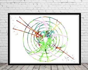 Higgs Boson, God Particle, Watercolor Higgs Boson, watercolor God Particle, watercolor print, art print, wall decor