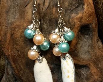 SALE #HonorSacrifice ~ Colorful Shell Cluster Earrings