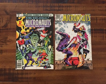 1979 Micronauts Annual #1 and 1983 Micronauts #51 Comic Books/ Marvel Comics/ VF-VG/ Choose One or Both for a Discounted Price!!!