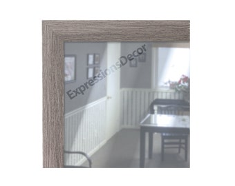 Custom Light Grey Decorative Wall Mirror - Flat Glass - FREE SHIPPING, Gray, Dining Office Bathroom
