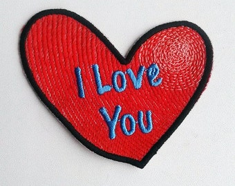 Darkside6(p) i love you heart red embroidery pattern
