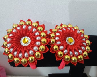 satin ribbon with beads