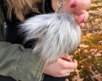 cute pom pom key chain // purse // backpack accessory //