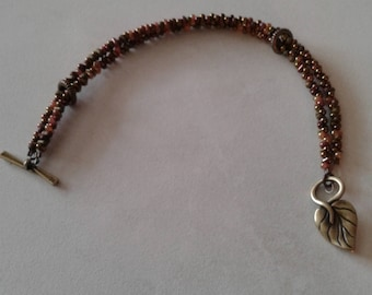 Bracelet brown, bronze