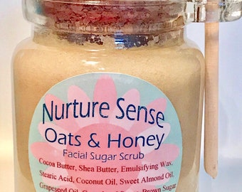 Oats and Honey Face and Body Sugar Scrub, 8 oz