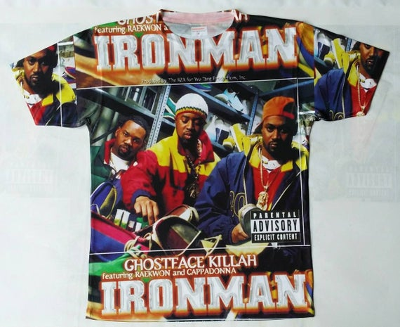 Ghostface Ironman sublimation T shirt iULVcY3IG