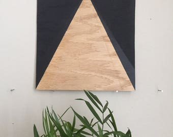"Black Triangle 006, 8""x8"" painting on oak plywood"