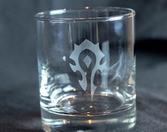 Etched Low Ball Glasses