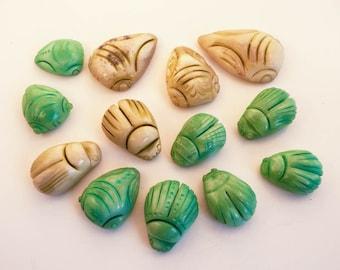 Artifacts:  Jade Scarabs and Cicadas