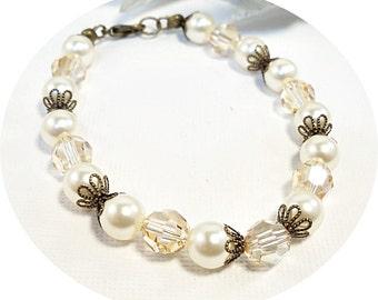 Champagne, Yellow Bracelet, Pale Yellow, Bridal Accessories, Bridesmaid Jewelry, Wedding, Bridesmaid Gift, Bracelet Set, Rustic Wedding