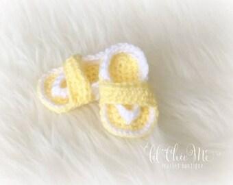 Handmade Crochet Baby Sandals