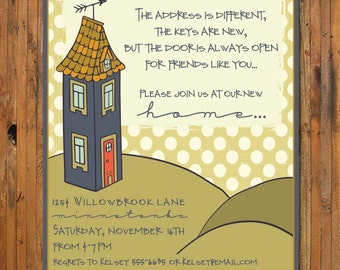 House warming invitation new home invitation mint gray open new home housewarming party invitation new home open house weve moved stopboris Choice Image
