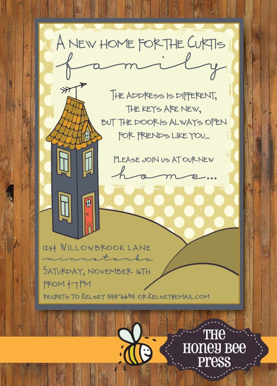 New home housewarming party invitation new home open house like this item stopboris Choice Image