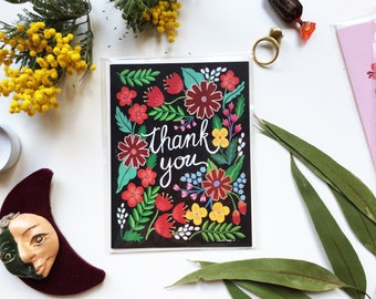Thank you, card, greeting card, Gift for friend (Merci, Gracias)