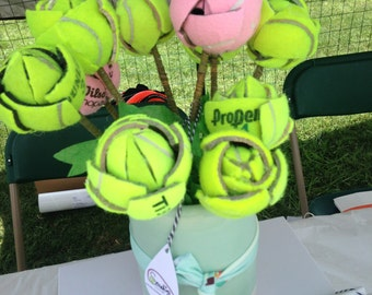 Tennis Ball Flowers (set of 3)